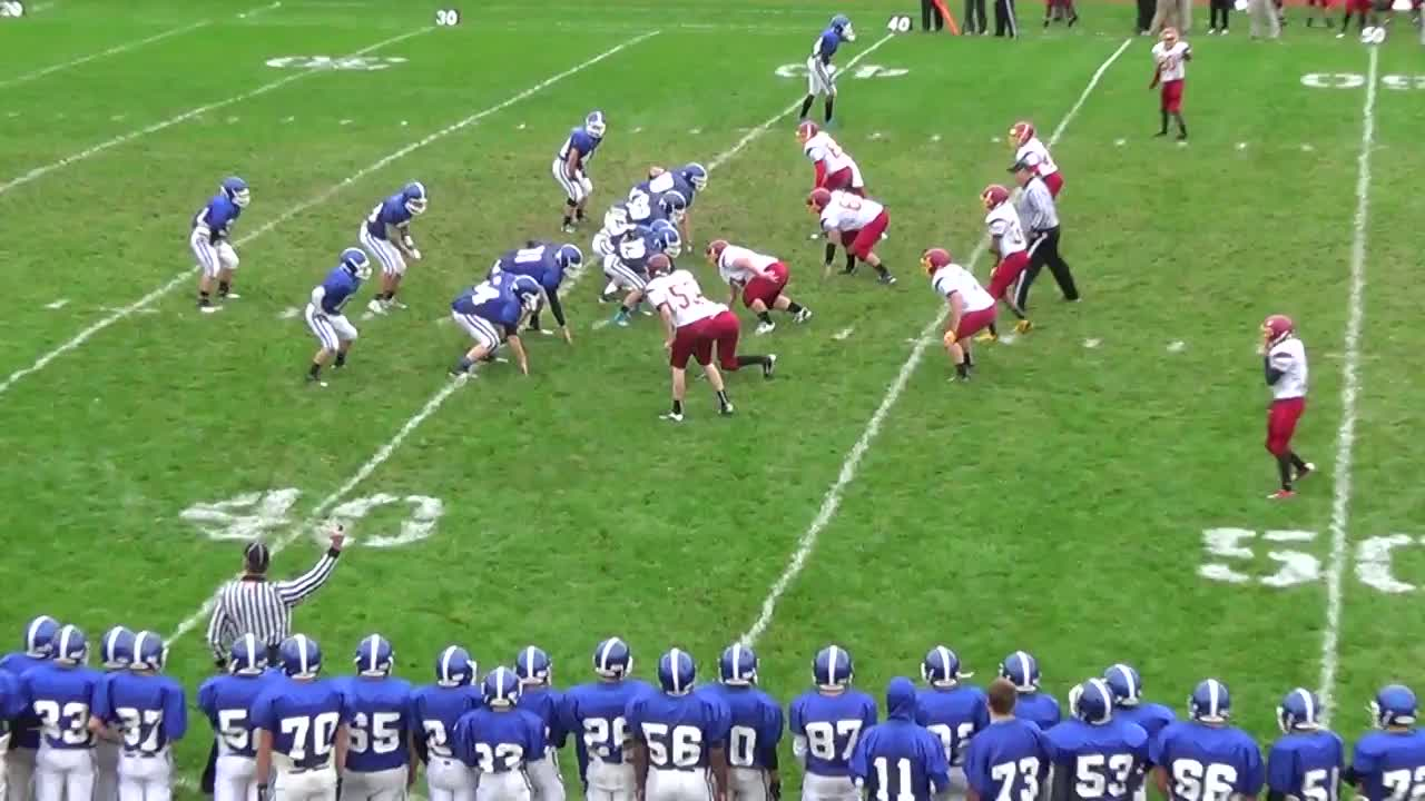 brandon ellis playing football against ithaca during the 2013 2014 noah bosket playing football against ithaca during the 2013 2014 season for horseheads high school in horseheads ny